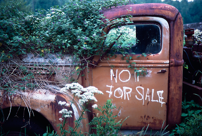 This truck has been long gone as I've been by this spotmany times. Taken with slide film back in the day. One...