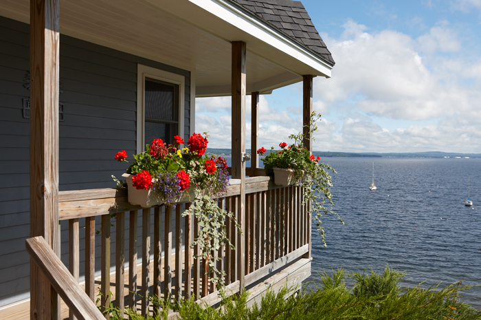 Ocean View, Porch, Northport, Maine, New England, photo