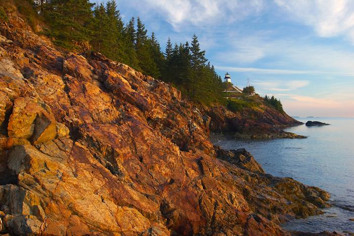 Owls Head, Lighthouse, Maine, Owls Head Lighthouse, Coast, Rocky Coast, New England, photo