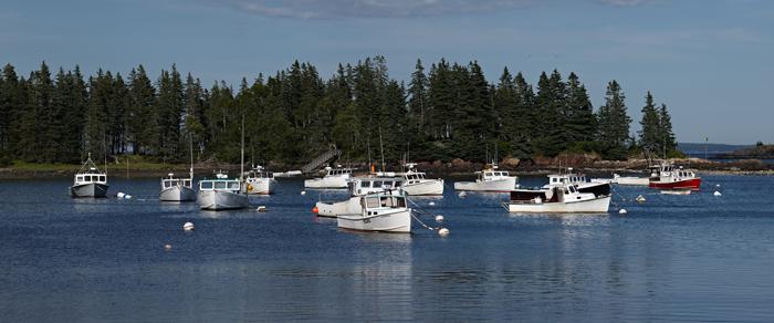 Owls Head, Maine, Harbor, Lobster Boats, Boats, New England, Panorama, photo
