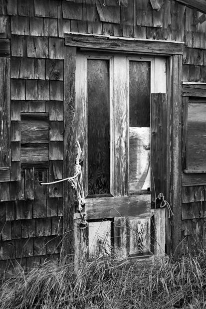 Owls Head, Maine, Shack, New England, Black & White, photo