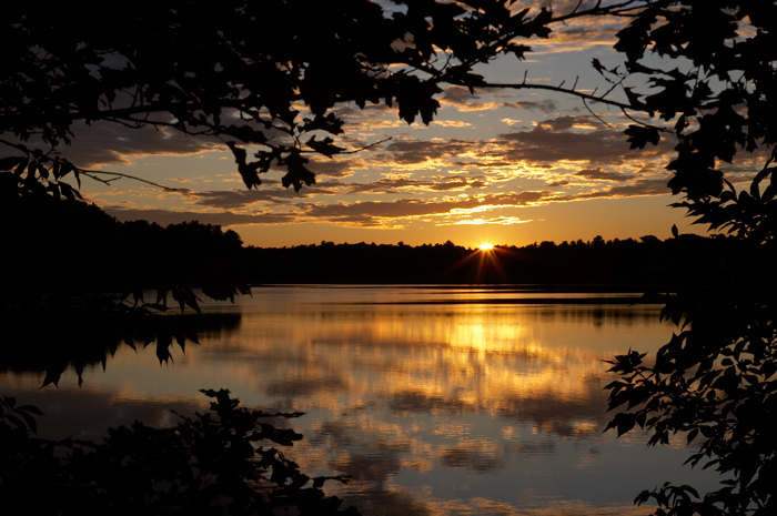 Pentucket, Pentucket Pond, Pond, Sunset, Georgetown, Massachusetts, Nature, New England, photo