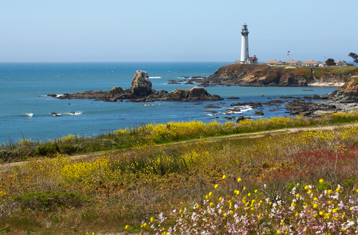 Pigeon Point Lighthouse, Pigeon Point, Pescadero, California, West, Pacific Ocean, West of New England, photo