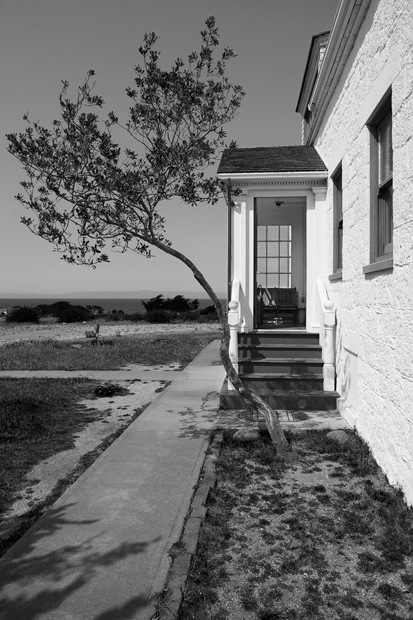Point Pinos Lighthouse, Lighthouse, Pacific Grove, California, Pacific Coast, Black & White, photo