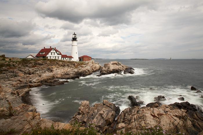 Portland Head Light, Portland Head Lighthouse, Portland, Maine, Lighthouse, New England, Coast, photo