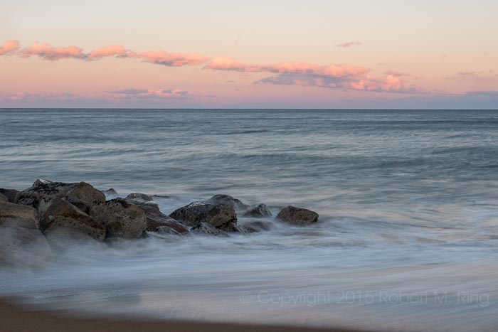 Looking eastward away from the sunset gave me some nice soft colors. It was quite cold and the wind was howling but all...