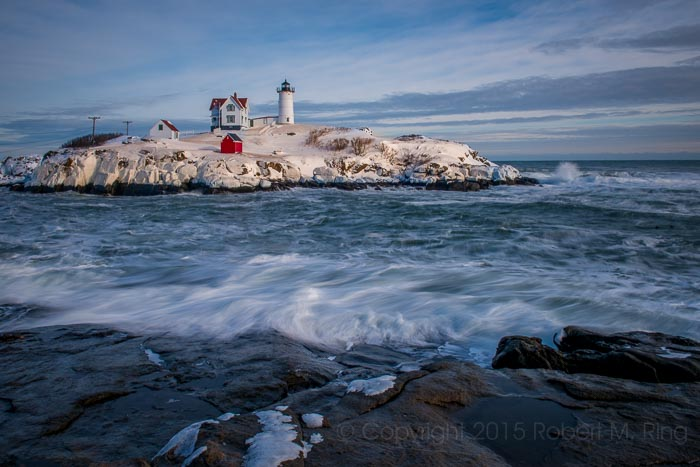 Nubble Light,Snow, coast, new england, lighthouse, photo