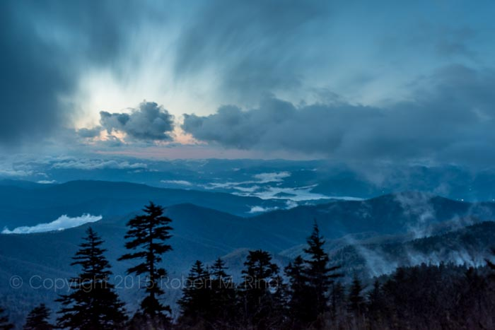 Smoky Mountains, Blue Hour, Great Smoky Mountains National Park, photo
