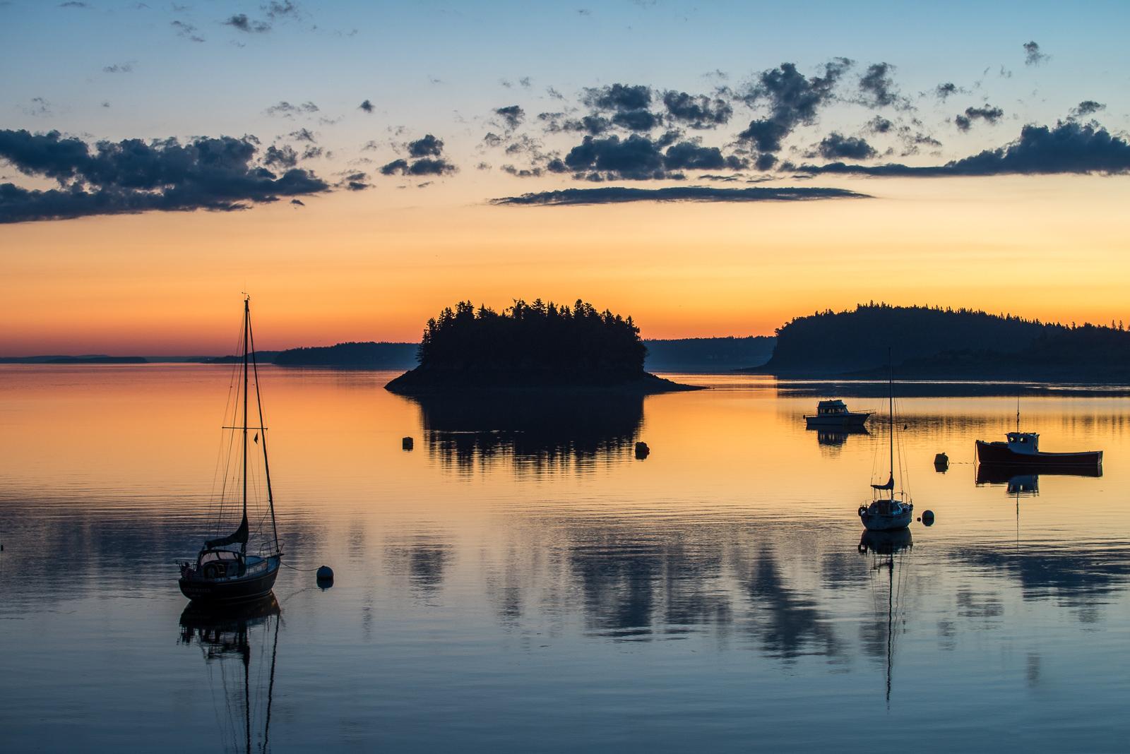 Lubec, harbor, sunrise, early morning light, new engald, coast, photo