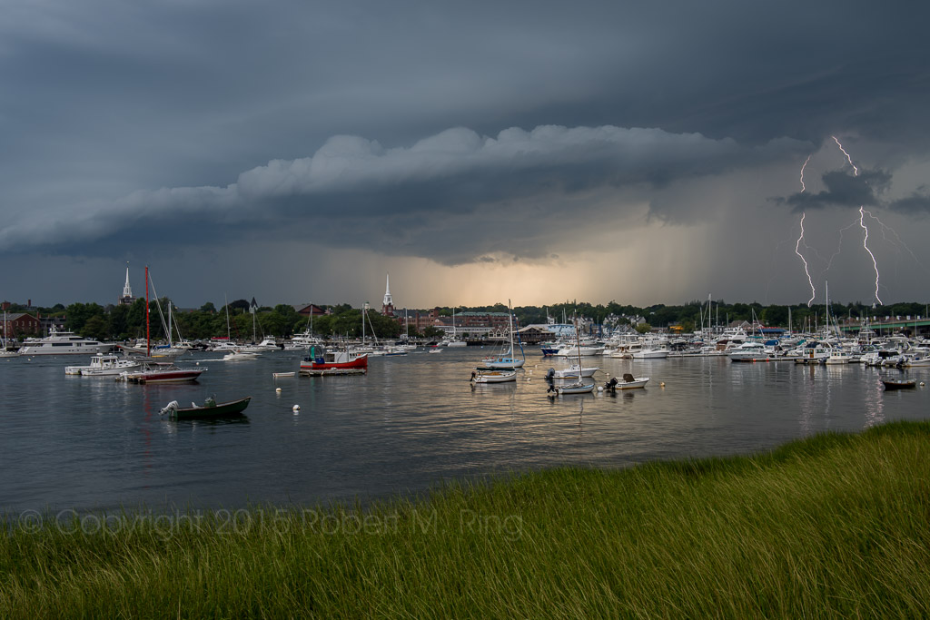 Indeed this most recent passing storm offered an eerie sky over Newburyport. These storms seem to come down the Merrimack...