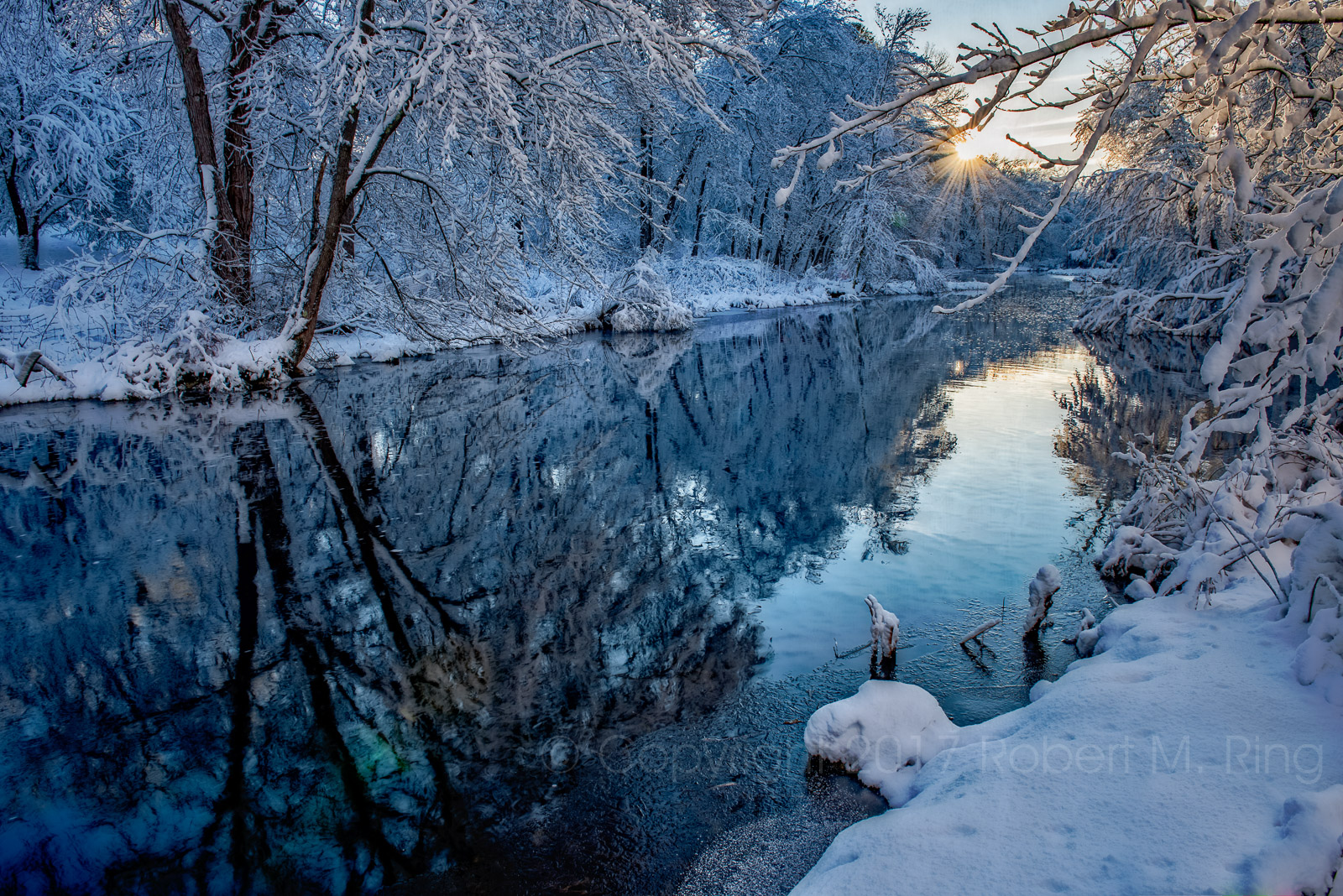 Snow, sunrise, byfield, MA, New England, scenic, photo