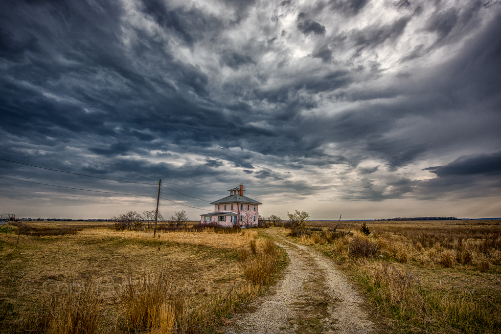 PRNWR, Pink House, Newbury, MA, Newburyport, Plum Island, New England, clouds, storm clouds, photo