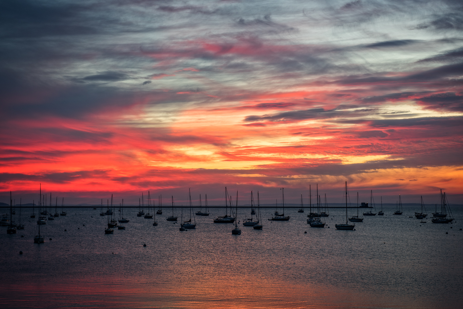 Maine, Harbor, sunrise, sky, clouds,water, mid coast, New England