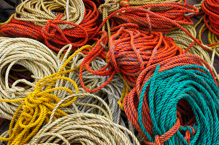 Maine, Rope, Fishing, fishing ropes, dock ropes, New England, photo