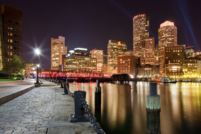 This was taken during an event in Boston called Boston Illuminale where various areas were lit up in unique ways for a weekend...