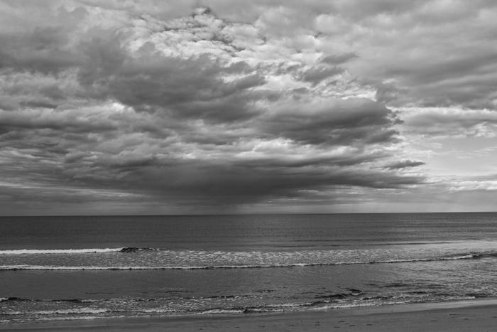 Shore, Storm, Manchester, Massachusetts, Atlantic Ocean, Clouds, Black & White, photo