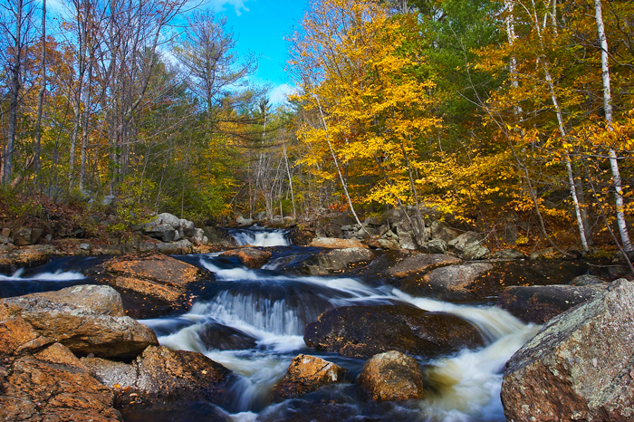 Wilmot, New Hampshire, NH, Fall, Foliage, Stream, New England, photo