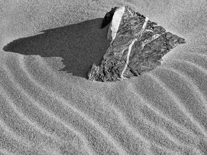 Wind, Rock, Sand, Salisbury Beach, Salisbury, Massachusetts, Black & White, New England, photo