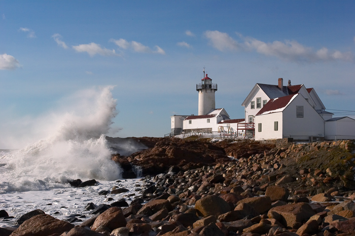 Winter, Storm, Lighthouse, Eastern Point Lighthouse, Gloucester, Massachsuetts, New England, New England Coast, Waves, photo