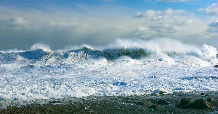 Winter, Surf, Ocean, Atlantic Ocean, New England, Nature, Waves, Massachusetts, photo