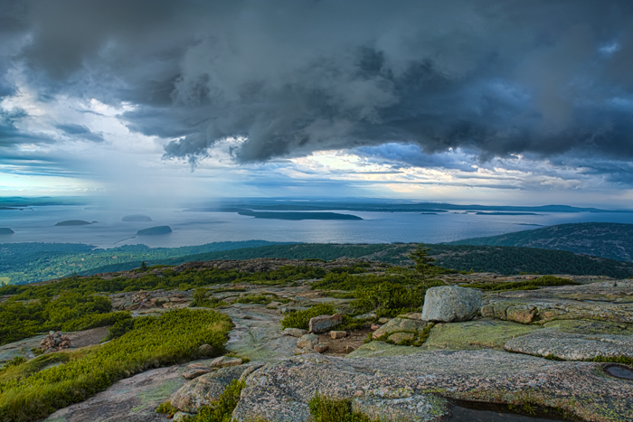 Cadillac Mountain in Acadia NP, storm, cloud, New England Photo Workshops, photo