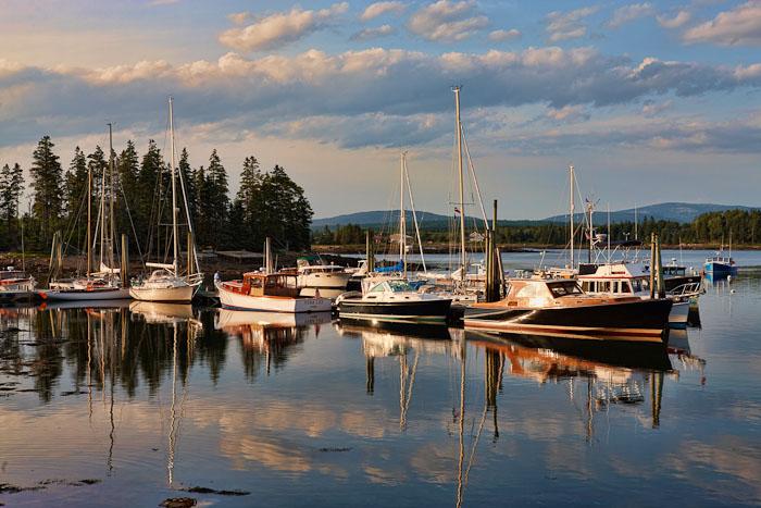 boats, harbor, acadia,evening, photo