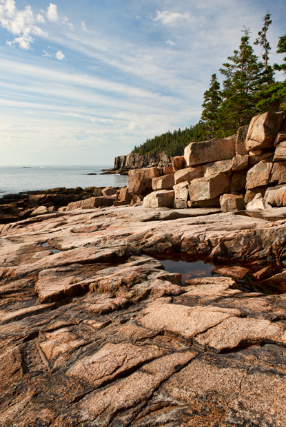Acadia National Park,Otter Cliff, coast, shore road, path, trail, New England Photo Workshops, photo