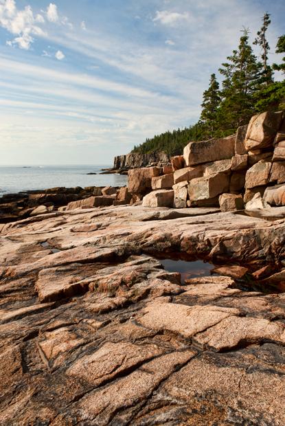 Acadia National Park,Otter Cliff, coast, shore road, path, trail, New England Photo Workshops, photo