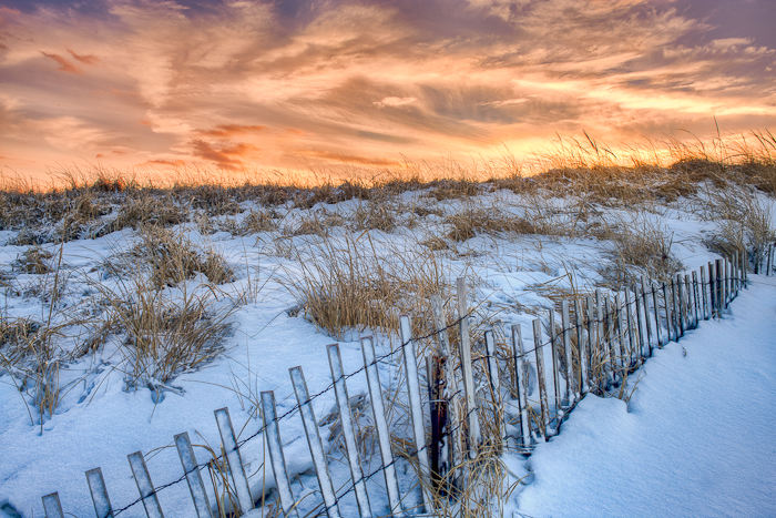 Winter, Sunset,Salisbury, MA,dusk, photo