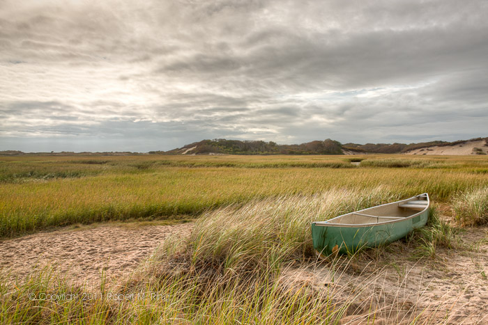 While on Cape Cod, in Provincetown, I found this canoe waiting to go out to sea.