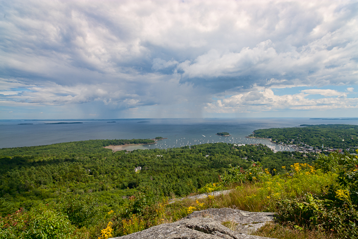 Top of Mount Battie in Camden, Maine,Penobscot Bay , photo