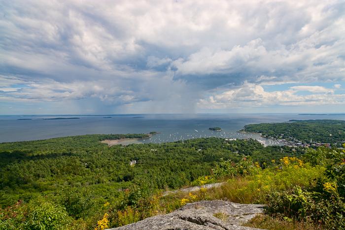 Top of Mount Battie in Camden, Maine,Penobscot Bay , photo