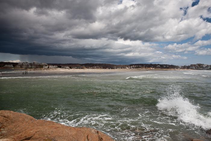Clouds, rain storm, Gloucester, MA,Good Harbor Beach, photo