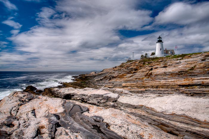 Maine, Lighthouse, Pemaquid, coast, scenic, New England,, photo