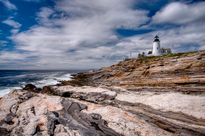 Maine, Lighthouse, Pemaquid, coast, scenic, New England,, photo