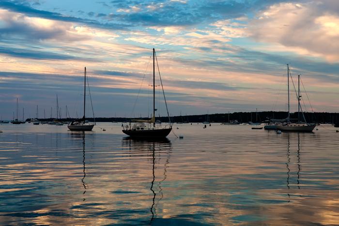 Rockland, Maine, boats, harbor, photo