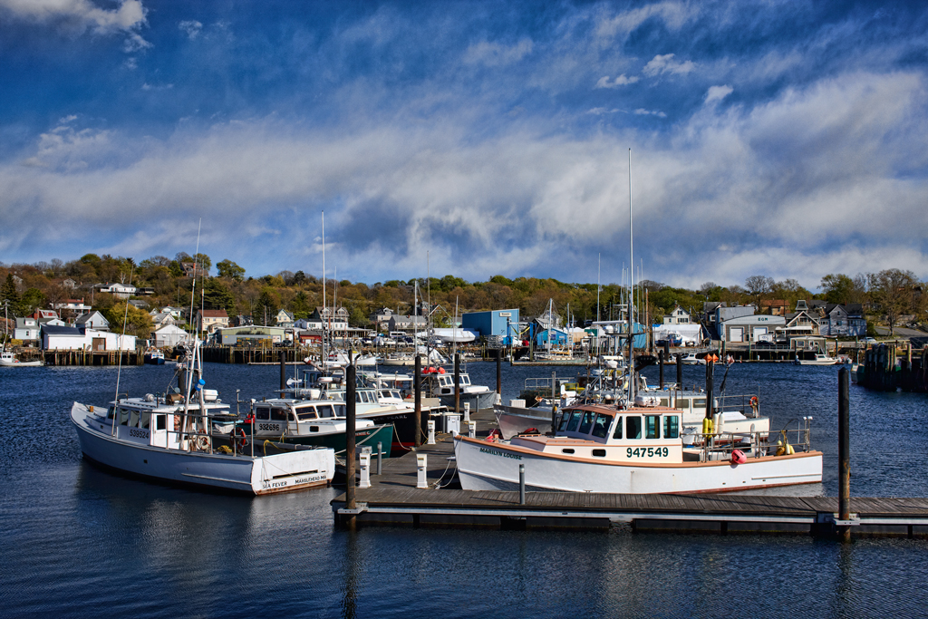 Gloucester, Massachusetts, New England, Boats, Clouds, Lobster Boats , photo