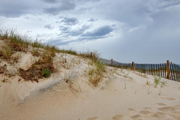 Cape Cod, beach, sand, fence, MA, Massachusetts, photo