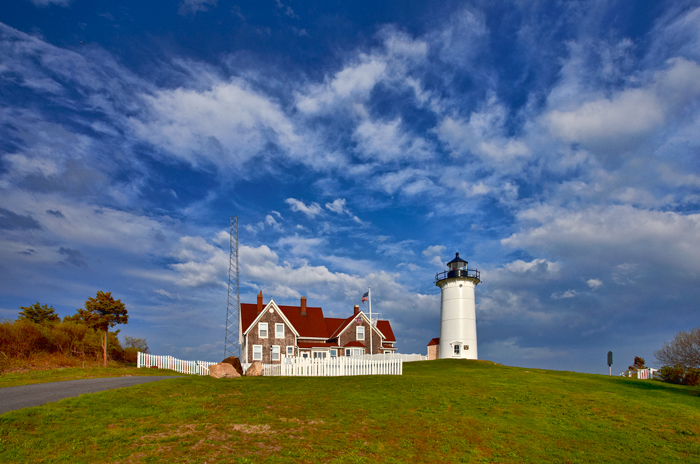 I love lighthouses and hadn't photographed this one before. Late afternoon and the sky was great after a rainy morning.