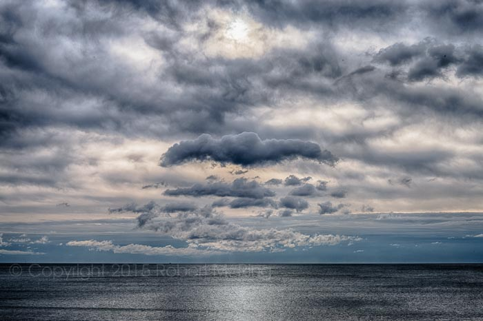 ocean, atlantic ocean, sky, clouds, new england, photo