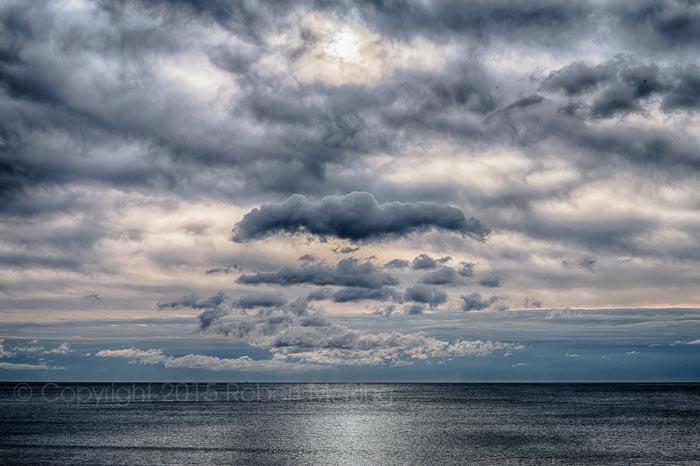ocean, atlantic ocean, sky, clouds, new england, photo