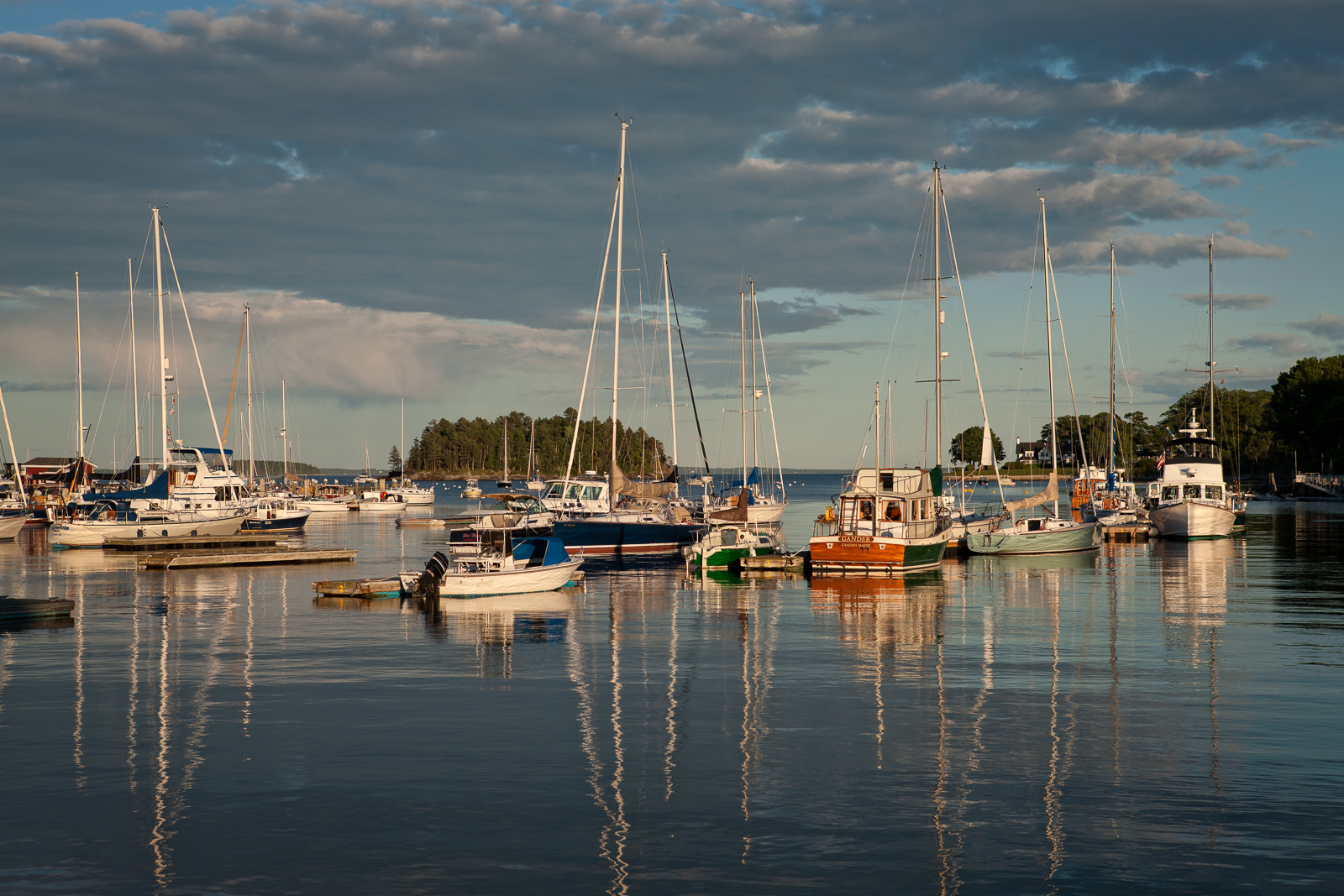Boats, Camden, Harbor, Maine, photo