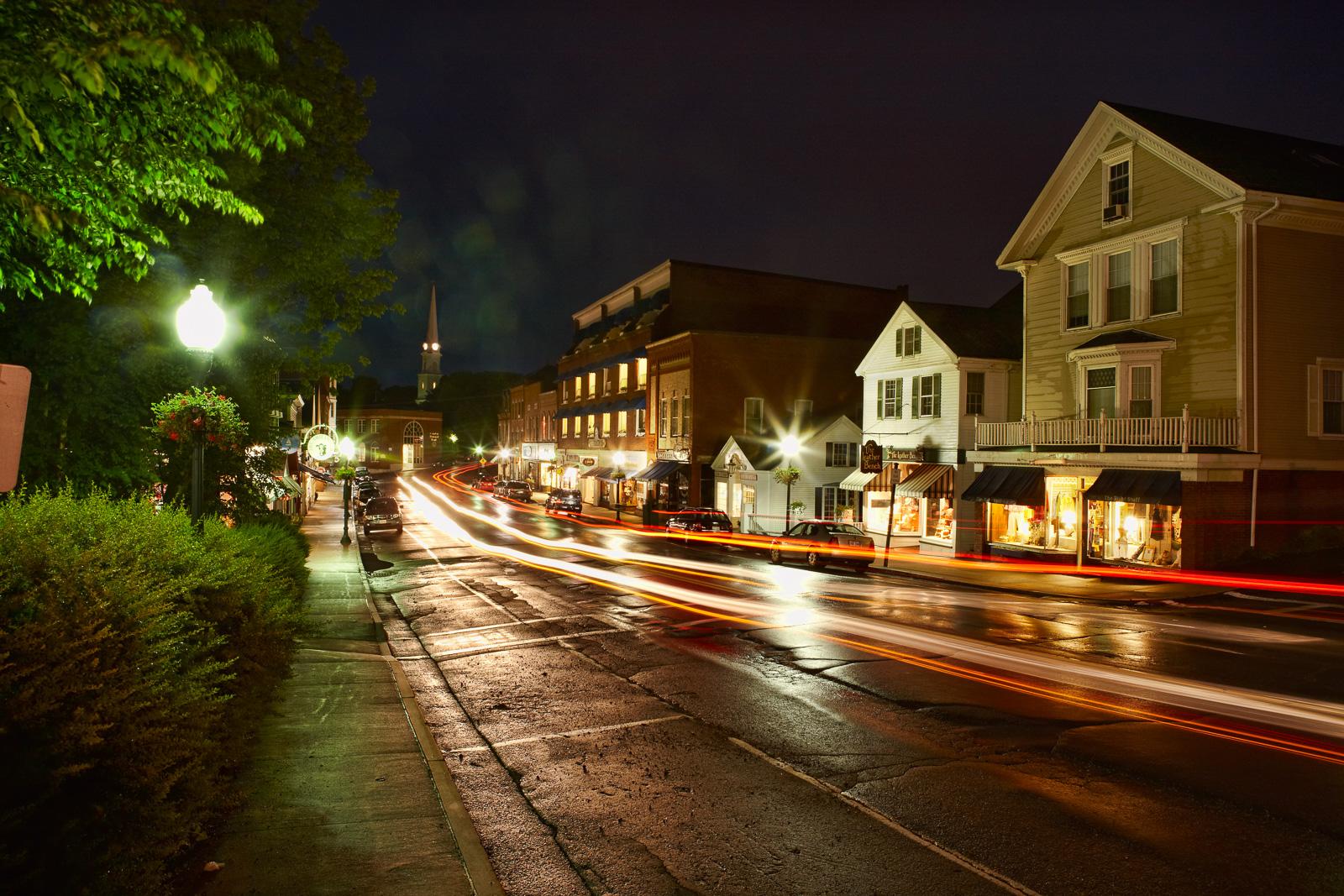 Camden, Maine, Night, photo