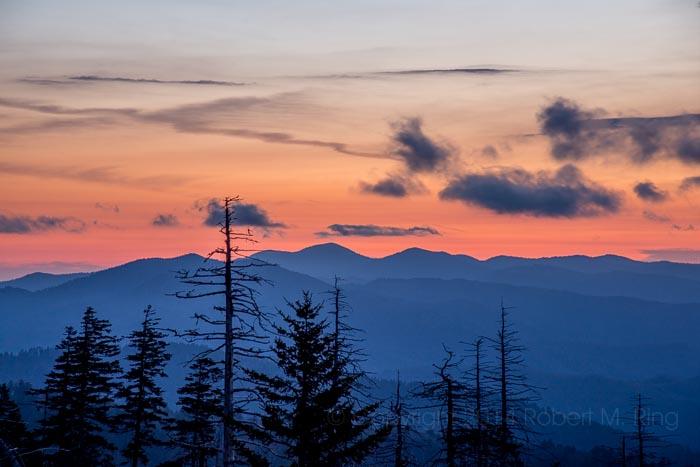 Great Smoky Mountains, sunrise, Clingman's Dome, photo