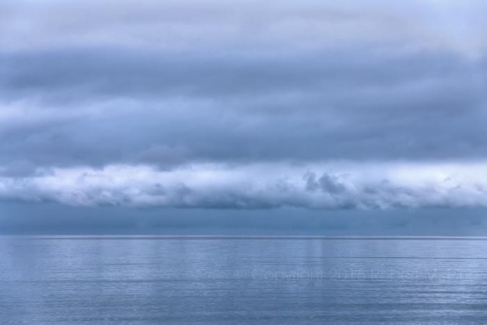 An eerie sky off shore while on Martha's Vineyard