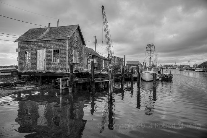 Menemsha Harbor located on Martha's Vineyard, MA