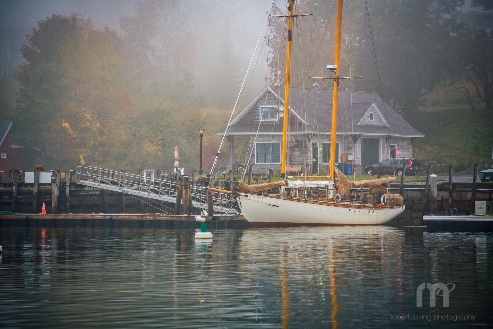 Maine, Samoset,fog,coast,new england,boat