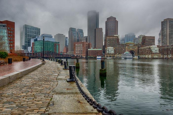 Boston, MA, New England, Scenic, landscape, fog, Sunday morning, photo