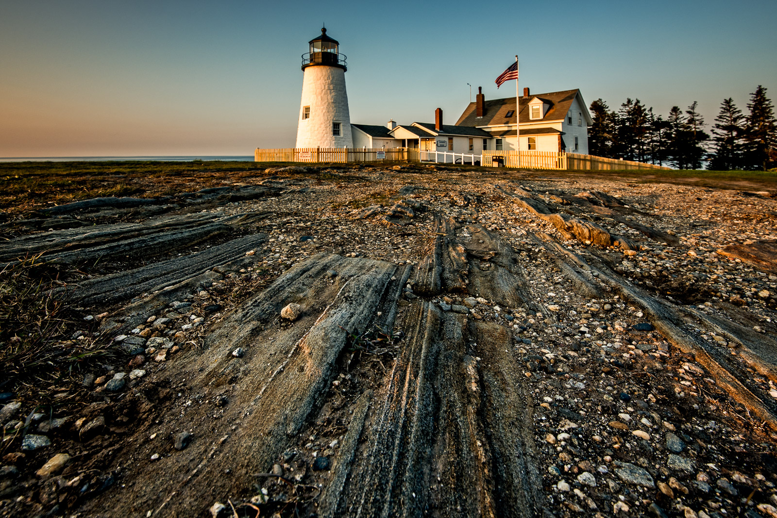Maine, New England, Lighthouse, coast, early morning, wide angle, New England Photo Workshops
