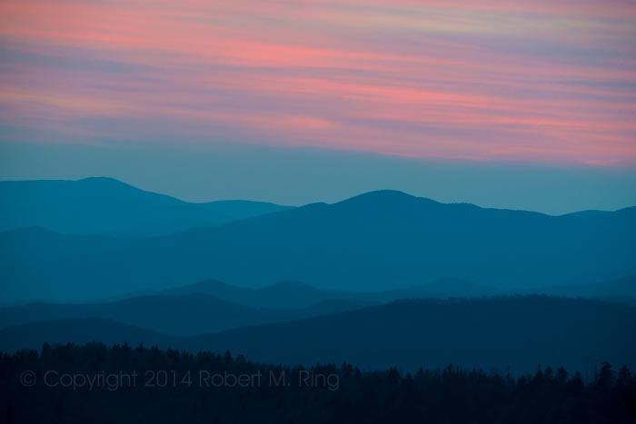 Great Smoky Mountain National Park, sunset, colors, blue hour, photo